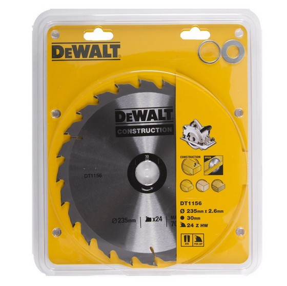 DEWALT DT1156-QZ SERIES 30 CIRCULAR SAW BLADE 235mm X 30mm Bore X 24 Teeth
