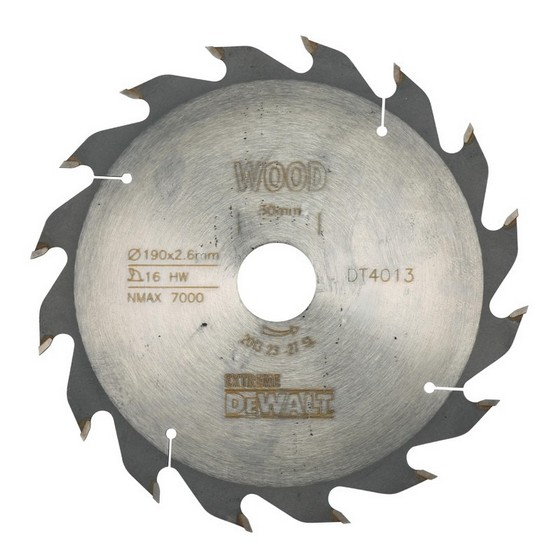 DEWALT DT4013-QZ SERIES 40 CIRCULAR SAW BLADE 190mm X 30mm Bore X 16 Teeth