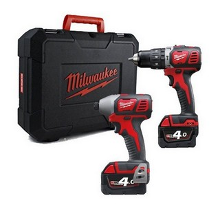 MILWAUKEE M18BPP2A-402C 18V TWIN PACK 2 X 4.0ah RED Li-ion BATTERIES