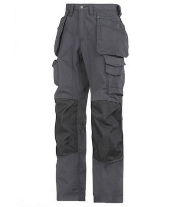 Snickers Ripstop Floor Layer Trousers Grey 3223 5804 W33 x L32
