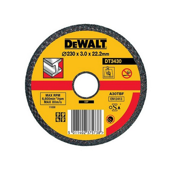 Dewalt DT3430-QZ 230x3.0x22.2mm Flat Metal Cutting