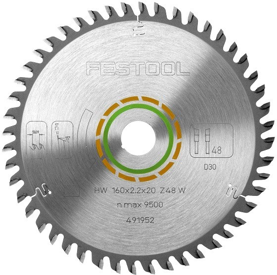FESTOOL 491952 FINE TOOTH SAW BLADE 160x2,2x20 W48