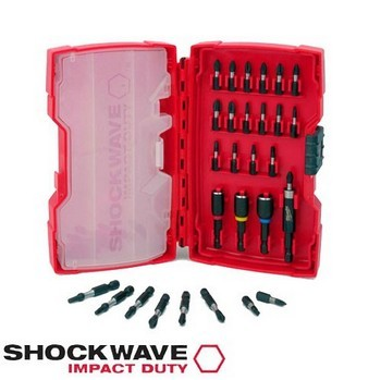 MILWAUKEE 4932352455 28 PIECE SHOCKWAVE IMPACT DUTY BIT SET