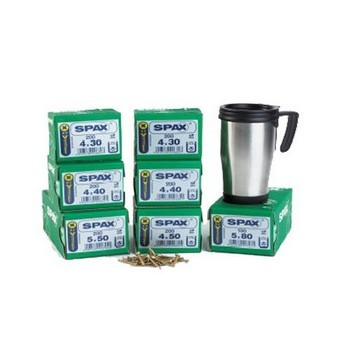 SPAX XPERT TRADE PACK 1300 SCREWS + STAINLESS STEEL MUG