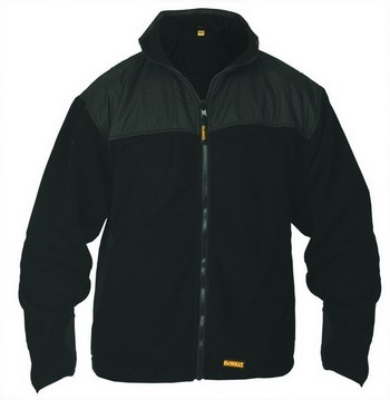 DEWALT DWC38001 TECHNICAL FLEECE JACKET BLACK EXTRA EXTRA LARGE