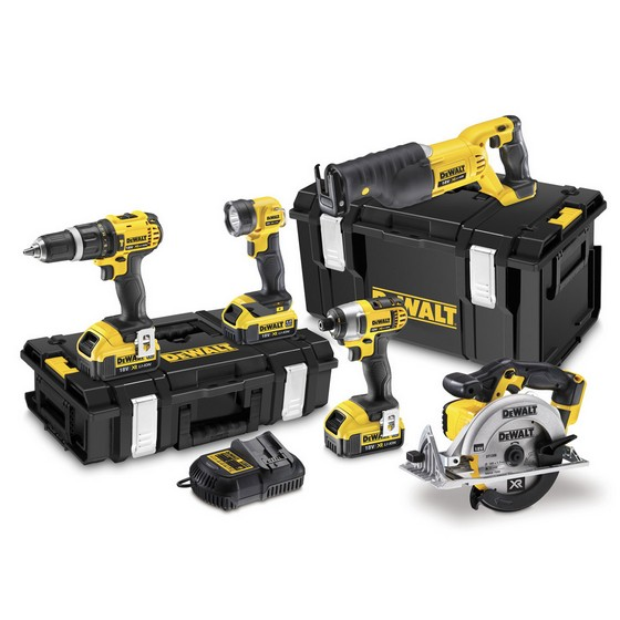 DEWALT DCK591M3 18V 5 PIECE KIT WITH 3 x 4.0Ah Li-ion BATTERIES