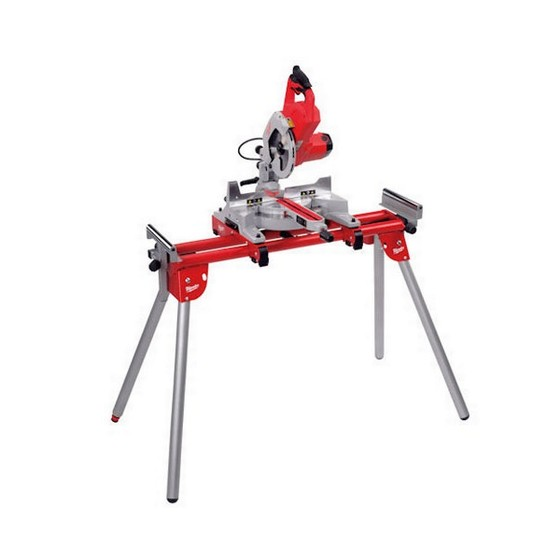 Milwaukee MS216SB 216mm Sliding Compound Mitre Saw 240v + MSL1000   Extending Leg Stand