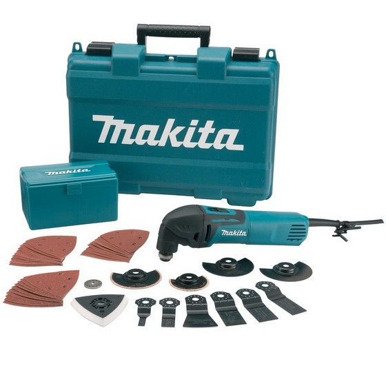MAKITA TM3000CX3 250 WATT OSCILLATING MULTI TOOL 110V WITH 42 ACCESSORIES