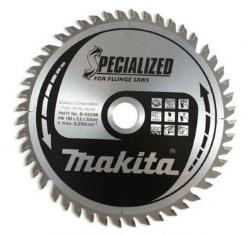 MAKITA B-09298 165mm X 20mm X 48T SPECIALIZED BLADE FOR SP6000 PLUNGE SAW