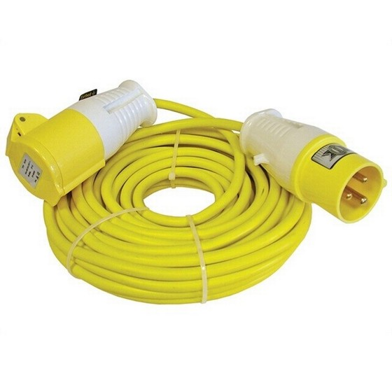FAITHFULL FPPTL14ML POWER PLUS 14 METRE TRAILING LEAD 16 AMP 1.5mm CABLE 110 VOLT