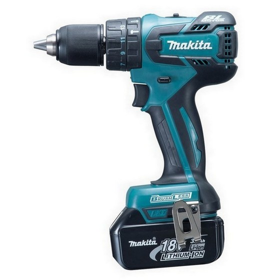 MAKITA DHP459RFE 18V BRUSHLESS 2 SPEED COMBI DRILL WITH 2 X 3.0Ah Li-ion BATTERIES