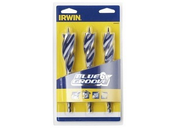 Irwin IRW10506627 3 Piece 6X Blue Groove Drill Bit Set