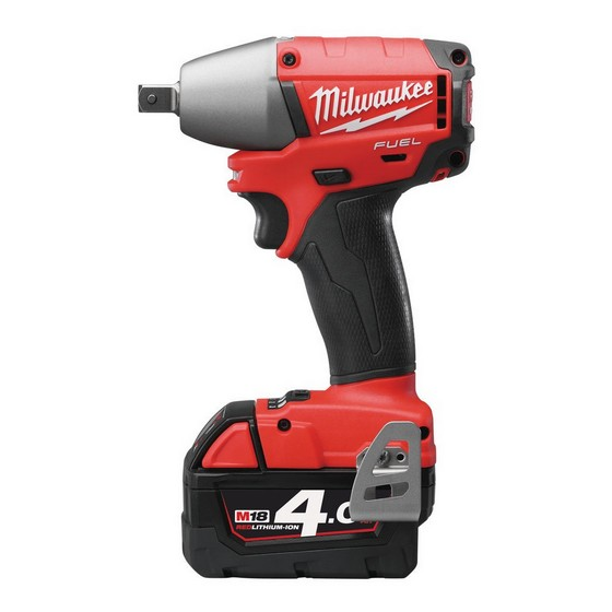 MILWAUKEE M18 CIW12-402C FUEL 18V BRUSHLESS 1/2in IMPACT WRENCH 2 X 4.0ah RED Li-ion BATTERIES