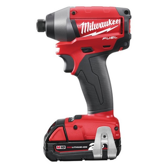 MILWAUKEE M18 CID-202C FUEL 18V IMPACT DRIVER 2 X 2.0ah RED Li-ion BATTERIES