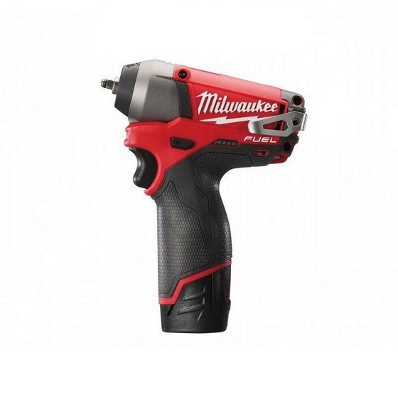 MILWAUKEE M12 CIW14-202C FUEL 12V IMPACT WRENCH 2 X 2.0ah RED Li-ion BATTERIES