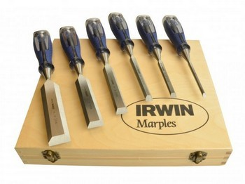 Marples MAR750S6 6 Piece Soft Touch Wood Chisel Set