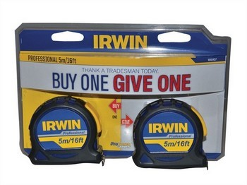 IRWN IRW1840437 PACK OF 2 PROFESSIONAL POCKET TAPE MEASURES 5M