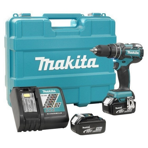 MAKITA DHP480RME 18V BRUSHLESS COMBI HAMMER DRILL 2 X 4.0ah Li-ion BATTERIES