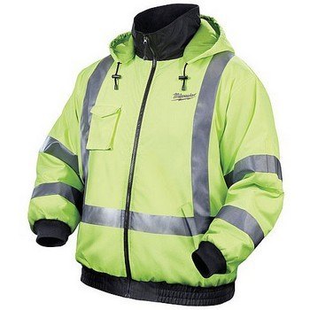 MILWAUKEE M12HJ-0 HI VISIBILITY HEATED JACKET (BARE UNIT) (EXTRA LARGE)