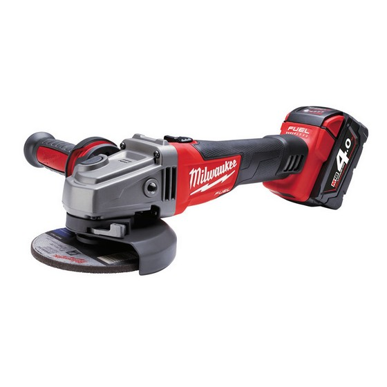 Milwaukee M18CAG115X-402C M18 18V FUEL 115mm Brushless Angle Grinder With 2x4.0ah Red Li-ion Batteries