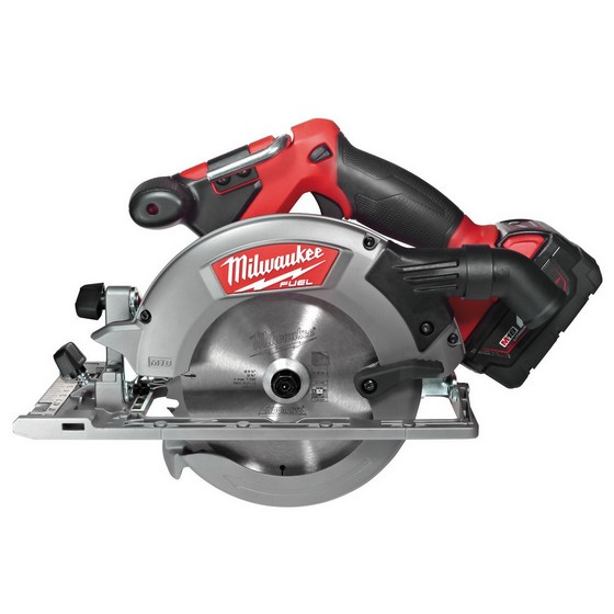 Milwaukee M18CCS55-402B M18 FUEL Brushless Circular Saw With 2x4.0ah Red Li-ion Batteries