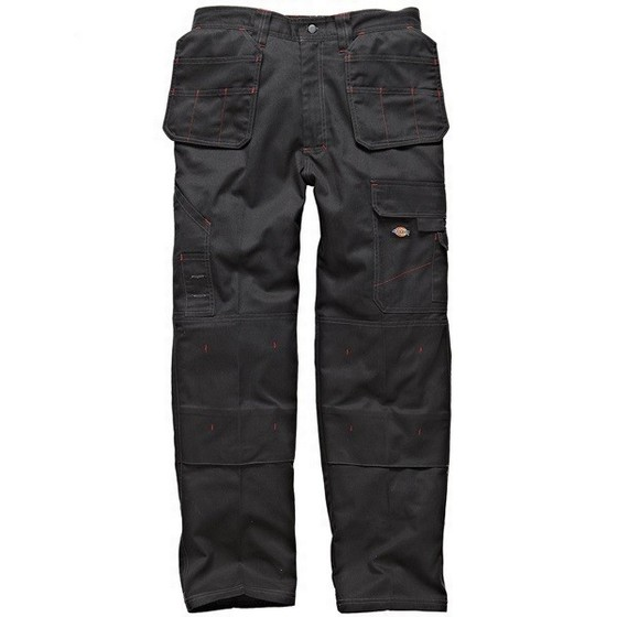 DICKIES WD801 REDHAWK PRO TROUSERS BLACK (32 INCH LEG)