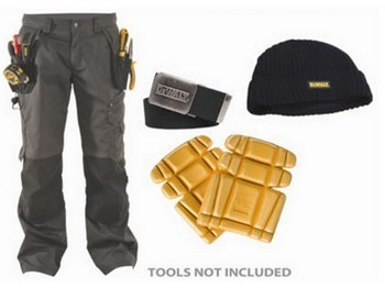 Apache Protwill Work Pack Trousers 34 Inch Waist 31 Inch Leg With Knee Pads Belt & Beanie Hat