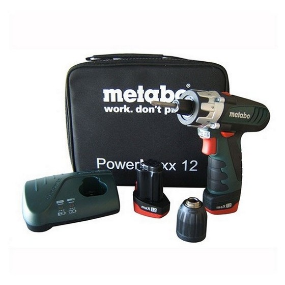 Metabo BS12 POWERMAXX 10.8V Drill Driver & Torch With 1 x 4.0ah & 1 x 1.5ah Li-ion Batteries