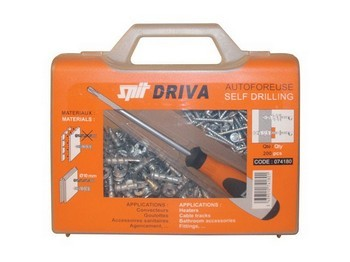 Spit 074180 Box Of 200 Driva TP12 Self Drilling Plasterboard Fixings Kit With Screwdriver