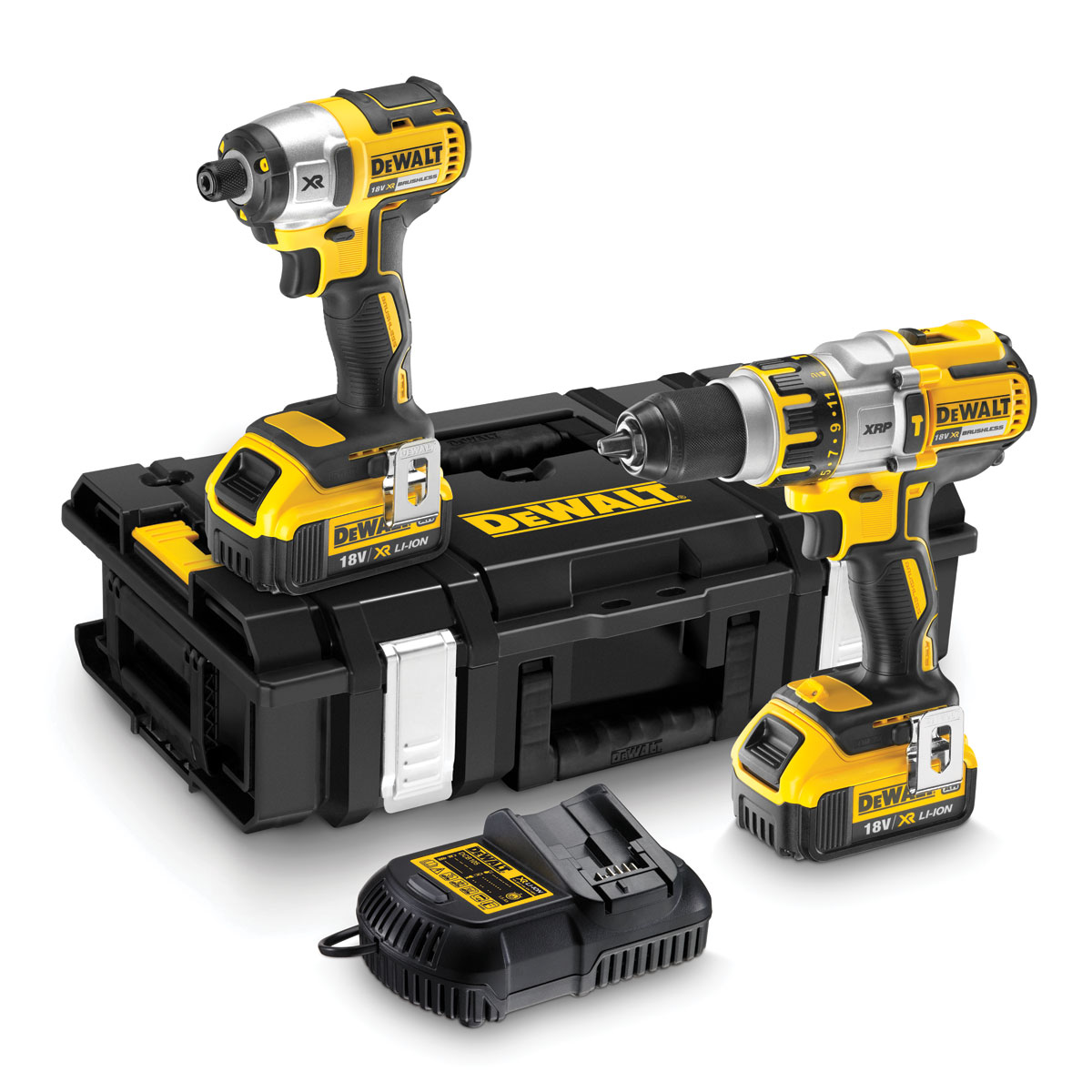 DEWALT DCK255M2 18V BRUSHLESS 3 SPEED TWIN PACK 2 x 4.0ah Li-ion BATTERIES
