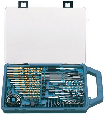 MAKITA P-44024 75 PIECE DRILL & ACCESSORIES SET