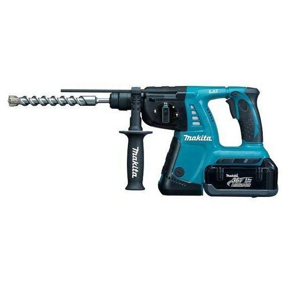MAKITA BHR262TRDE 36V SDS+ HAMMER DRILL 2x2.6ah Li-ion BATTERIES (Includes Quick Change Chuck)
