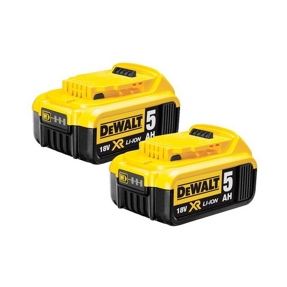 DEWALT DCB184 18V 5.0AH XR LITHIUM ION BATTERY PACK WITH CHARGE INDICATOR (Twin Pack)