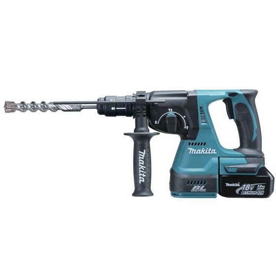 MAKITA DHR263RF4J 36V (TWIN 18V) SDS HAMMER DRILL 4 x 3.0ah Li-ion BATTERIES