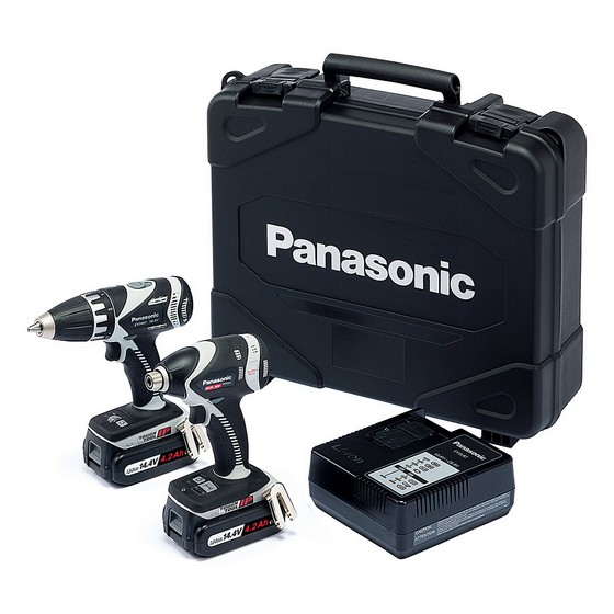 PANASONIC 14.4v DRILL DRIVER & IMPACT DRIVER TWIN PACK 2 X 4.2ah Li-ion BATTERIES