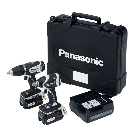 PANASONIC 14.4v DRILL DRIVER & IMPACT WRENCH TWIN PACK 2 X 4.2ah Li-ion BATTERIES