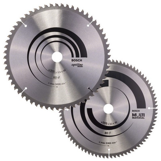 BOSCH 0615997461 TWIN PACK CIRCULAR SAW BLADES 305mm