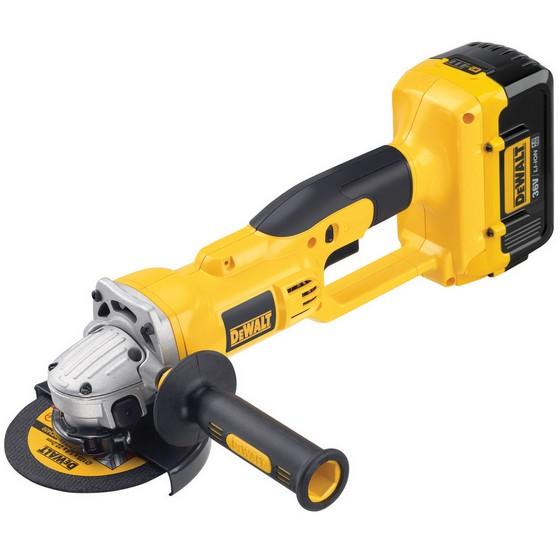 DEWALT DC415M2 ANGLE GRINDER WITH 2X 4.0AH LI-ION BATTERIES