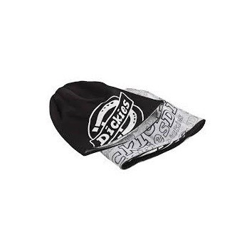 DICKIES DT290010 REVERSIBLE BEANIE HAT BLACK