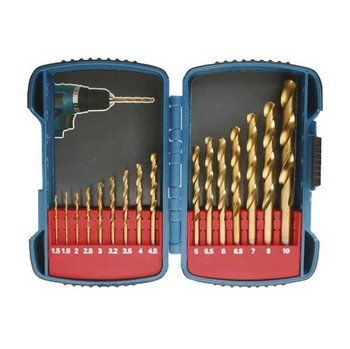 MAKITA P-51873 16 PIECE ASSORTED TITANIUM HSS DRILL BIT SET