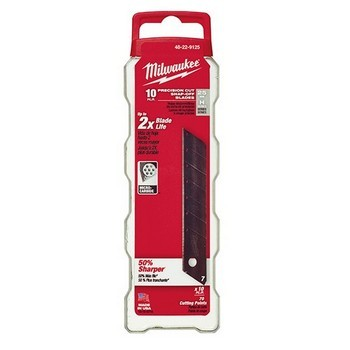 MILWAUKEE 48229125 PACK OF 10 SNAP KNIFE BLADES 25MM