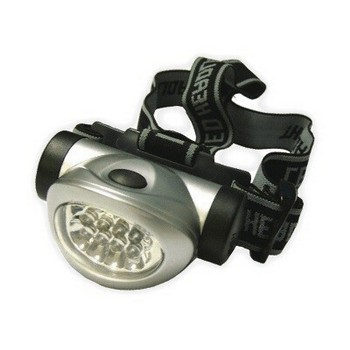 LIGHTHOUSE 8 LED HEADLIGHT 3 FUNCTION SILVER