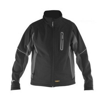 DEWALT DWC39/014 SOFT SHELL JACKET BLACK (EXTRA LARGE)