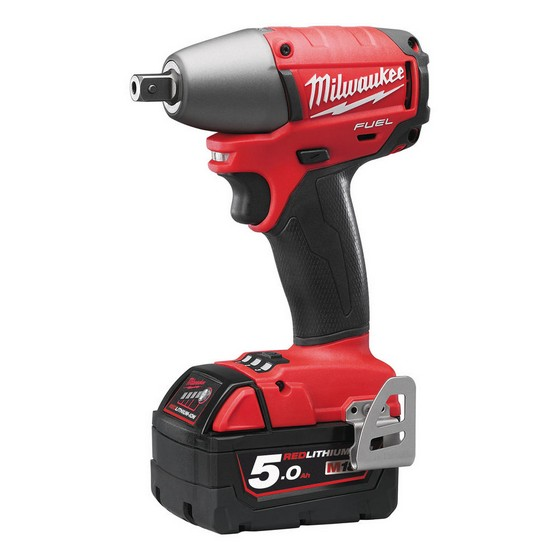 MILWAUKEE M18CIW12-502X 18V COMPACT BRUSHLESS 1/2IN IMPACT WRENCH WITH 2X 5.0AH LI-ION BATTERIES