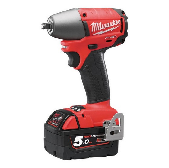 MILWAUKEE M18CIW38-502X 18V COMPACT BRUSHLESS 3/8IN IMPACT WRENCH WITH 2X 5.0AH LI-ION BATTERIES