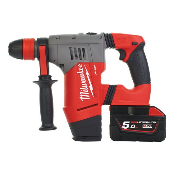 MILWAUKEE M28CHPX-502C 28V SDS HAMMER DRILL WITH 2X 5.0AH LI-ION BATTERIES
