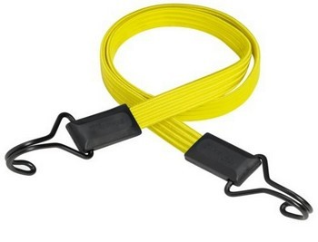 MASTER LOCK FLAT BUNGEE 100CM YELLOW WITH DOUBLE STRAIGHT HOOK