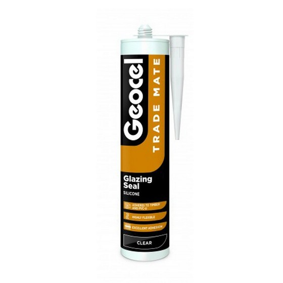 GEOCEL 2887436 TRADE MATE SILICONE GLAZING SEALANT 310ML CLEAR