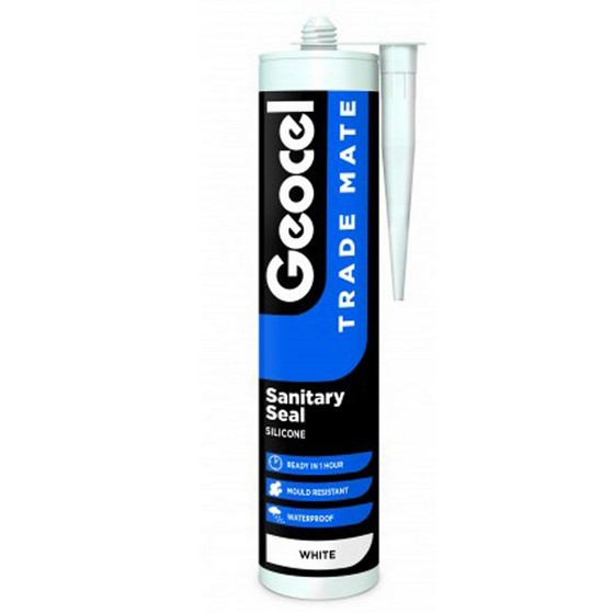 GEOCEL 2940281 TRADE MATE SILICONE SANITARY SEALANT 310ML WHITE