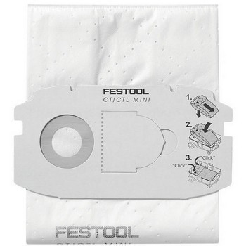 FESTOOL 498411 SELF CLEAN FILTER BAG SC FIS-CT MIDI/5